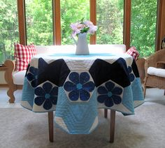 Hemma Design tablecloth made from the Louisa Garden Quilt Pattern