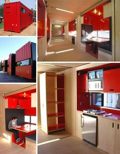 Cargo container home interiors