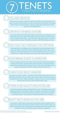 Interesting Poster Featuring The 7 Tenets of Cr...