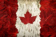 "Canadian flag ""au naturel"""