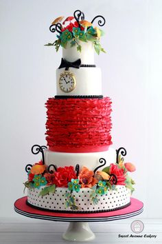 Alice in Wonderland Wedding Cake by Sweet Avenue Cakery - Cake by Sweet Avenue Cakery