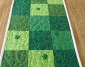 Valentines Day and St Patricks Day Table Runner in One -on etsy