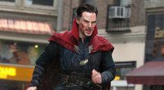 Benedict Cumberbatch Films 'Doctor Strange' in NYC – First Pics!