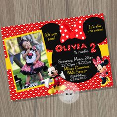 Minnie Mouse Invitation Mickey Mouse Invitation by CutePixels
