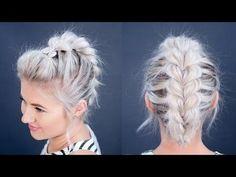 Pull-Through Faux Hawk Braid Short Hair - Celebrity Looks | Bellashoot