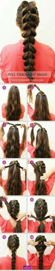 36 Braided Wedding Hair Ideas You Will Love❤ Stylish Pull Throught Braid at ho., Frisuren,, 36 Braided Wedding Hair Ideas You Will Love❤ Stylish Pull Throught Braid at home is very easy! See at this tutorial and DIY step by step with us. Braided Hairstyles For Wedding, Diy Hairstyles, Natural Hairstyles, Hairstyle Ideas, African Hairstyles, Latest Hairstyles, Celebrity Hairstyles, Female Hairstyles, Model Hairstyles