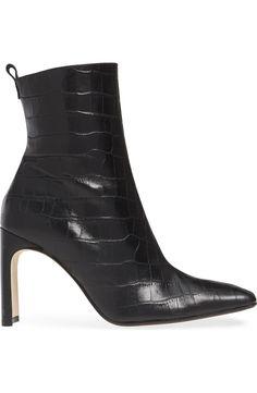 Chaussures Femmes Bottines Bottes Avec Talon Bloc Et Fermeture à glissière Profil Semelle