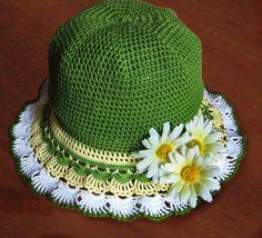 Летняя шляпка крючком со схемой. Шляпка летняя вязаная крючком