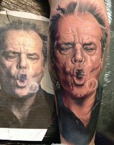 Jack smoke ring portrait tattoo