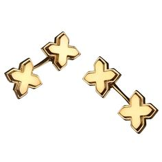 Gold Vermeil and Silver Cufflinks