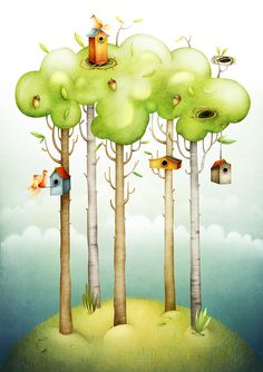 Granny and the Weewoodland by Lea Vervoort - www.leavervoort.nl