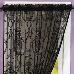 Holly Black Single Voile Panels