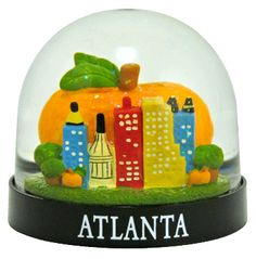 Atlanta Peach snowglobe  from snowdomes.com