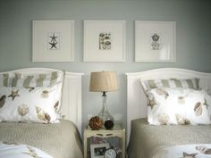 Twin Symmetry: For RMS user Beachyone's guest bedroom, the secret of making the most of a small space is simple: symmetry. Description from pinterest.com. I searched for this on bing.com/images