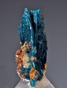 Veszelelyite (large bladed crystal group)  Black Pine Mine, Flint Creek Valley, John Long Mts., Granit Co.  MONTANA,