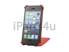 Flip Case iPhone 5/5S Klaphoesje rood Leer