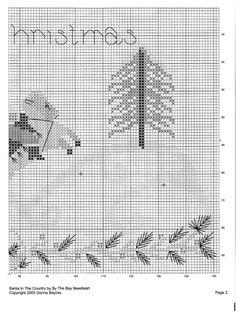 Point de croix Noël -m@- Christmas cross stitch 3