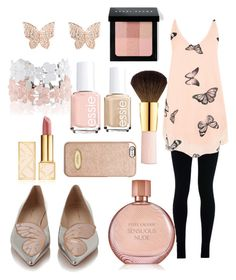 Butterfly Beauty by sgulachenski on Polyvore featuring polyvore, fashion, style, WearAll, NIKE, Sophia Webster, Monsoon, MICHAEL Michael Kors, Tory Burch, Bobbi Brown Cosmetics, AERIN, Estée Lauder and Essie