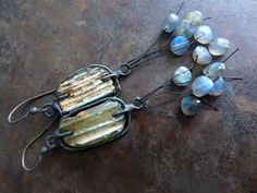 Wind and Water. Roman glass labradorite solder by fancifuldevices, $85.00