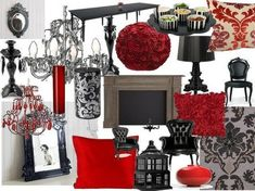 Never go too dark. Mixing in some reds and different shades of white keeps the room classy and warm without being scary