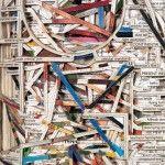 "Macmillan, 2011, Hardcover book, acrylic medium, 11-1/8"" x 9-1/2"" x 2-1/8"" - Image Courtesy of the Artist and Toomey Tourell Fine Art"