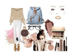 Nude inspiration by lenka-hirmanova on Polyvore featuring WithChic, Dorothy Perkins, Dr. Martens, Olivia Burton, Clarins and Laura Mercier