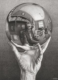 Hand With Reflective Sphere, by MC Escher. Images courtesy of Collection Gemeentemuseum Den Haag/the MC Escher Company Hyper Realistic Tattoo, Escher Hands, Art Photography, Fine Art, Drawings, Amazing Art, Painting, Art, Art History