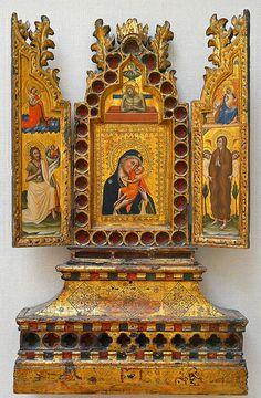 Triptych-reliquary SIMONE DI FILIPPO BENVENUTI, detto Simone dei Crocifissi (Bologna, circa 1330 – Bologna, 1399) #TuscanyAgriturismoGiratola