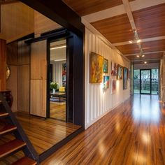 31 Shipping Container Home - Interior/Hallway/Entrance
