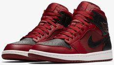 """Jordan Brand has been remixing some popular colorways of the Air Jordan 1 frequently, with the upcoming """"Bred Toe"""" 1 being the most notable offering. Jumpman's newest new-look design comes by way of the Air Jordan 1 Mid where the … Continue reading → Best Sneakers, Sneakers Fashion, Shoes Sneakers, Men's Shoes, Fashion Shoes, Zapatillas Jordan Retro, Fresh Shoes, Jordan 1 Mid, Air Jordan Shoes"""