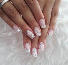 How to choose your fake nails? - My Nails French Nail Art, French Nail Designs, Beautiful Nail Designs, Nail Art Designs, Cute Nails, Pretty Nails, My Nails, Nagellack Design, Bridal Nail Art