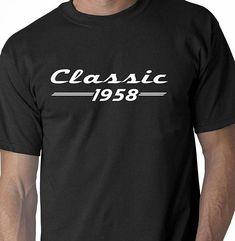 Birthday Shirt Big 60 Gift 60th Men Classic 1958