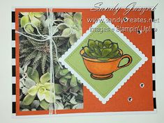 These two size cards feature the February 2019 Paper Pumpkin Kit Grown with Kindness from Stampin' Up! Pineapple Punch, Stampin Up Paper Pumpkin, Dandelion Wish, Flower Stamp, Glue Dots, Some Cards, Basic Grey, Embossing Folder, Watercolor Paper