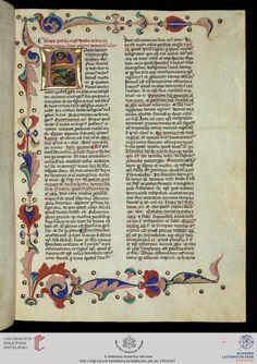 Vatikan, Biblioteca Apostolica Vaticana, Pal. lat. 110 Nicolaus <de Lyra> Postilla super quatuor Evangelistas — 14. Jh.