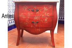 Muebles restaurados: Restauración de muebles antiguos, que bien por deterioro o porque ya no nos gusta su aspecto, queremos darle un cambio de estilo, todo ello de forma artesanal. Mesa de centro r…