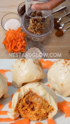 Raw carrot cake truffles – vegan with cashew vanilla frosting. Easy recipe and can be made paleo and without nuts Raw carrot cake truffles – vegan with cashew vanilla frosting. Easy recipe and can be made paleo and without nuts Raw Vegan Desserts, Raw Vegan Recipes, Paleo Dessert, Vegan Sweets, Healthy Recipes, Raw Vegan Cake, Raw Dessert Recipes, Health Desserts, Fun Easy Recipes