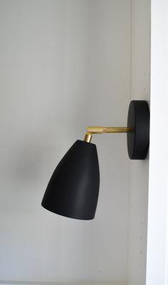 The August.  Solid Brass metal shade wall ceiling tilting sconce light lighting-  Modern, minimal, mid century, rad