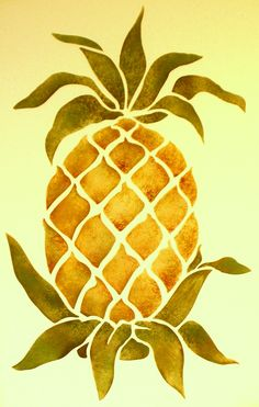 Hospitality Pineapple Stencil