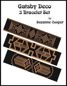 Deco Gatsby 3 Bracelets Patterns Set at Sova-Enterprises.com