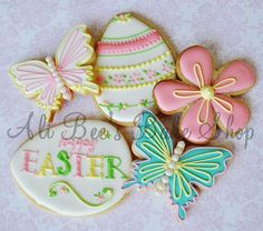 I love to make homemade sugar cookies with icing. These are gorgeous for Easter!