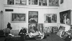 Edvard Munch, In his studio at Ekely (Oslo) on ArtStack #edvard-munch #art