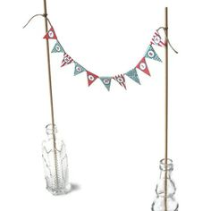Printable Mini Carnival Banner Cake Topper Kit - Customized PDF