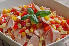 Pikanter Paprika - Käse - Wurst - Salat