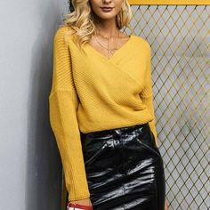 56289c90d0 Acrylic V-Neck Sweater - 3 Colors
