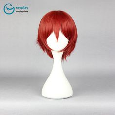 Assassination Classroom Akabane Karma Short Red Cosplay wig #anime #wigs #prop #cosplay #girl
