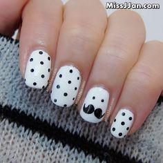 Movember is Not Just For Men: Moustache Inspired Nail Art