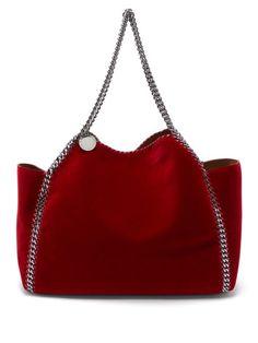 8e4a9ac534 Stella McCartney Falabella small reversible velvet tote bag Reversible Tote  Bag