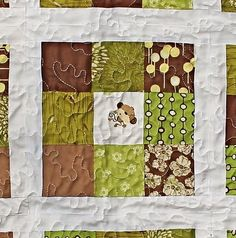 Monkey in the Middle-Baby Quilt