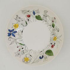Inger Waage for Stavangerflint Villblomst Mid-century Modern, Modern Design, Stavanger, Dinner Dishes, Vintage Ceramic, Norway, Retro Vintage, Decorative Plates, Clay