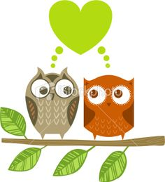 Two owls Royalty Free Stock Vector Art Illustration - like both